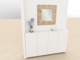 3D Planung Möbel Flur